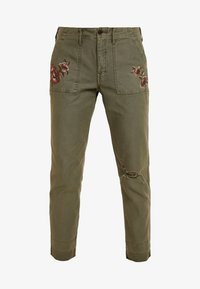 Abercrombie & Fitch - EMBROIDERY - Kalhoty - olive - 4