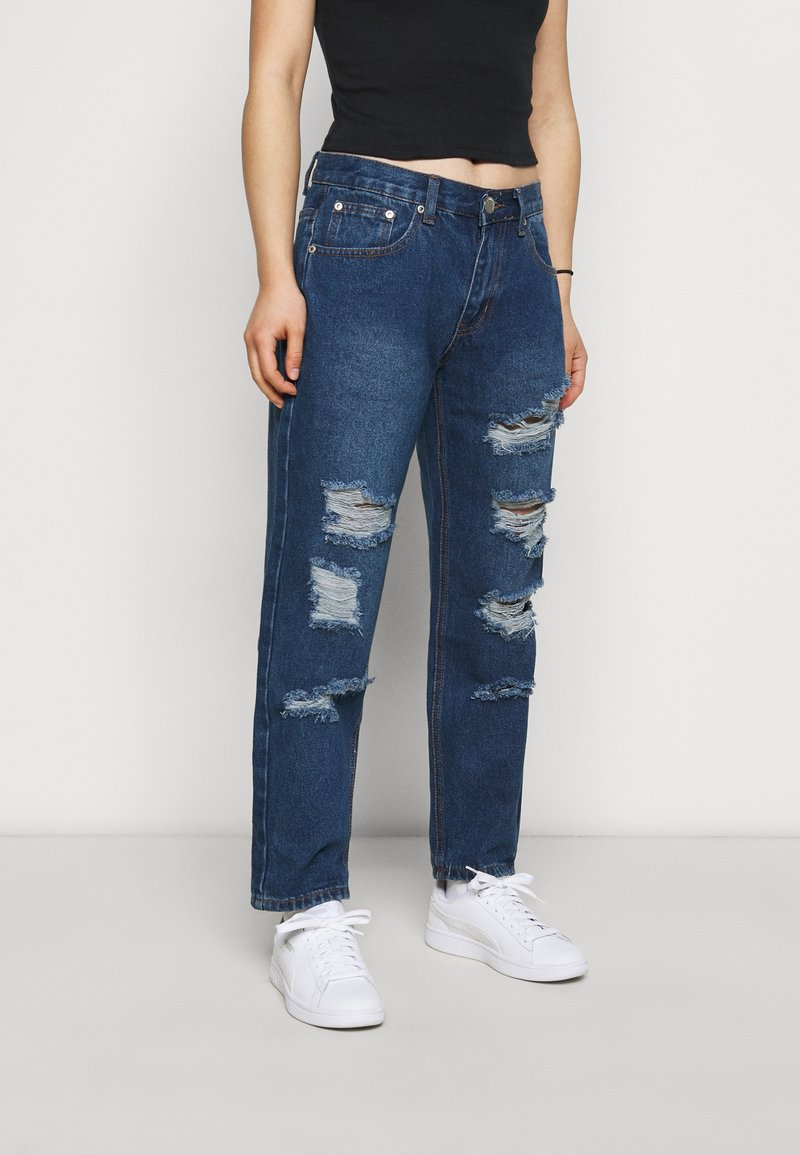 Glamorous Petite - LADIES - Relaxed fit jeans - dark blue wash