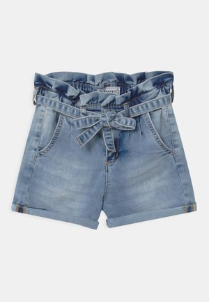 GIRLS PAPERBAG  - Shorts vaqueros - light blue