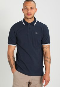 Alpha Industries - TWIN STRIPE NEW - Poloshirt - navy/white - 0