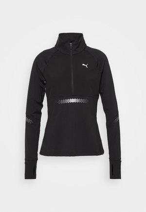 RUNNER ZIP - Sports shirt - black