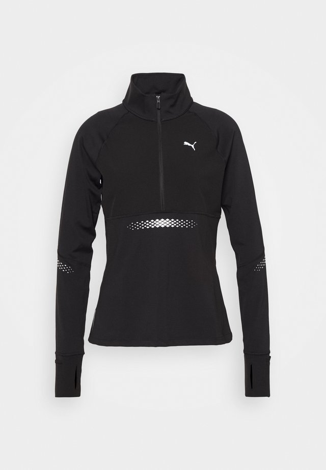 RUNNER ZIP - Sports shirt - black