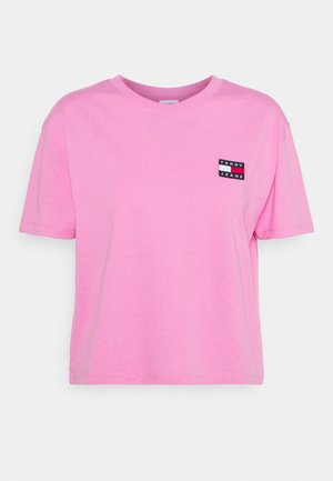 BADGE TEE - Basic T-shirt - pink daisy