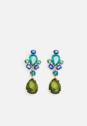 PCMORGAN EARRINGS  - Øredobber - gold colour/green/blue