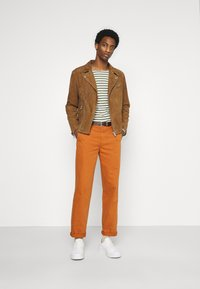 Selected Homme - Giacca di pelle - rubber - 1