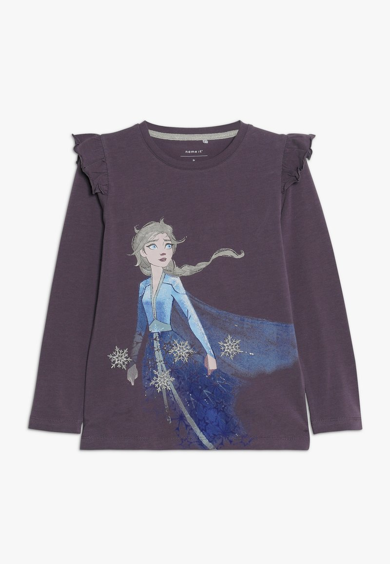 Name it - DISNEY FROZEN ELSA - Long sleeved top - black plum