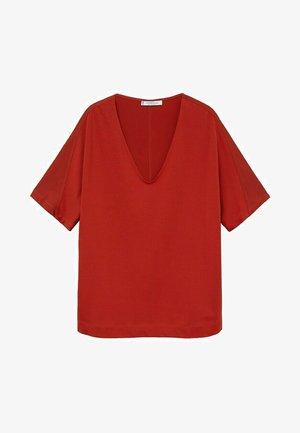 Basic T-shirt - rotbraun