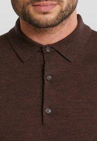 Van Gils - LONGSLEEVE - Polo shirt - dark brown - 3