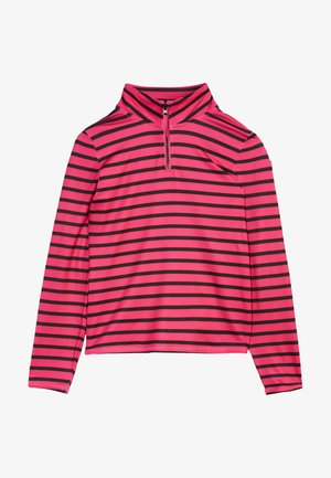 Fleece jumper - pink aop w/ black