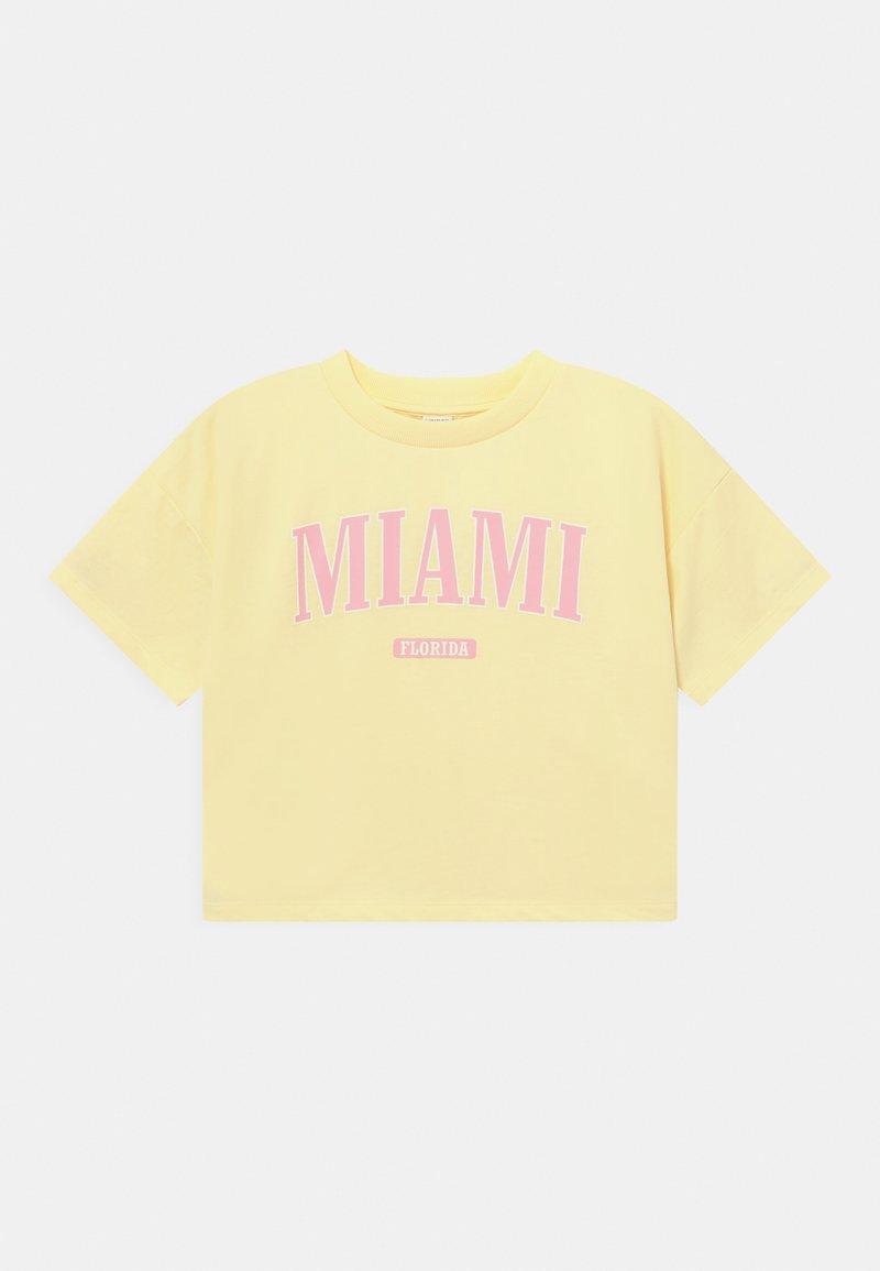 Lindex - DANNIE - Print T-shirt - light yellow