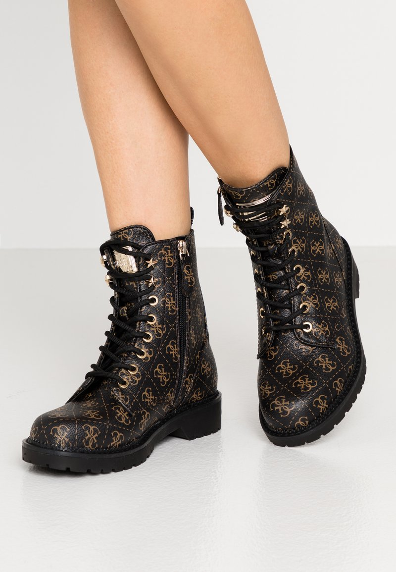 Guess - TALISI - Lace-up ankle boots - brown/ocra