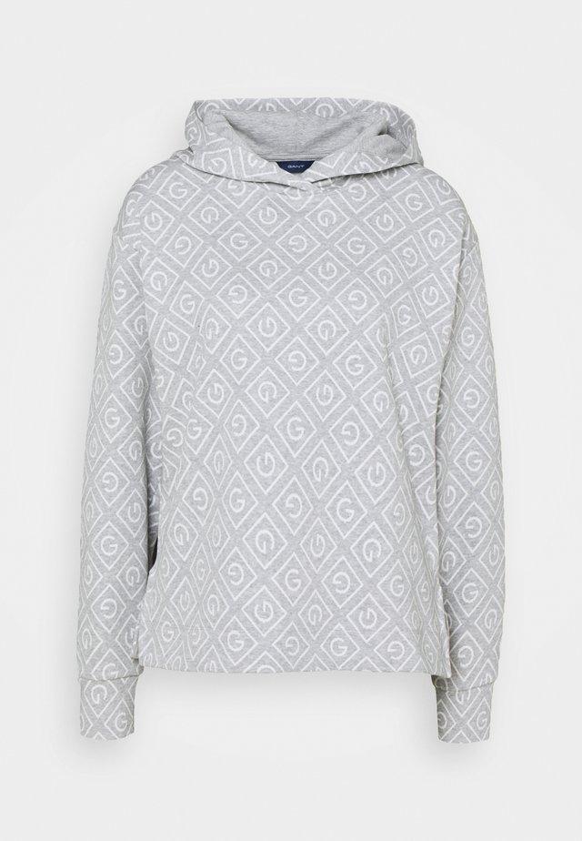 ICON HOODIE - Top sdlouhým rukávem - light grey