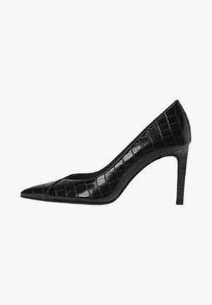 MIT PRÄGUNG - High heels - black