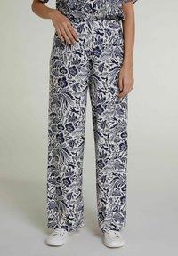 Oui - Trousers - white blue - 0