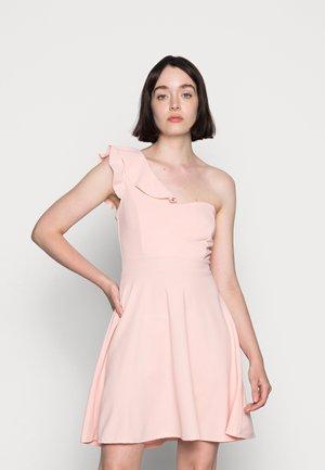 ROSIE A-SYMMETRICAL A-LINE MINI DRESS - Jersey dress - baby pink
