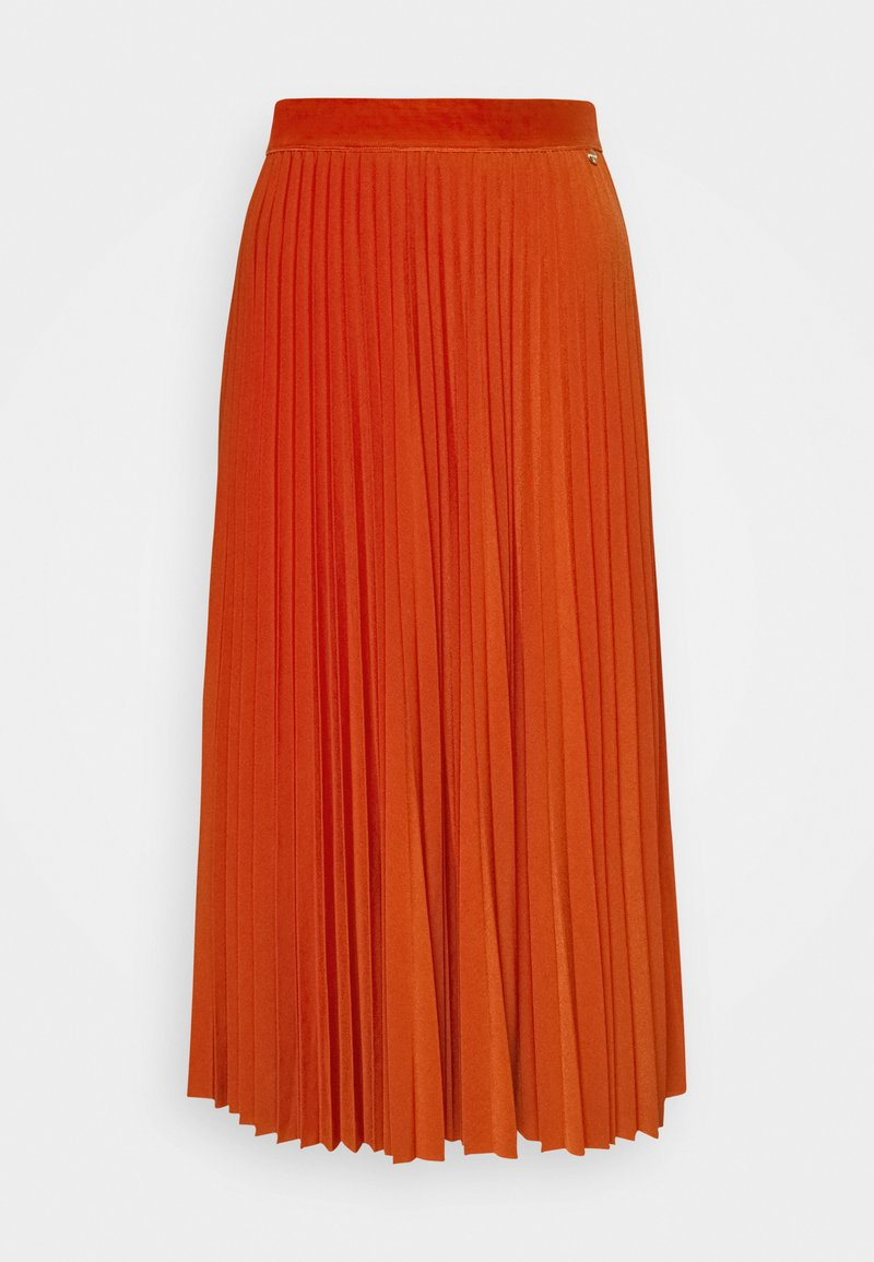 Rich & Royal - PLISSEE SKIRT - A-line skirt - rusty red