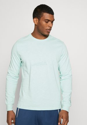 HOOPS BOUNCE TEE - T-shirt à manches longues - mist green