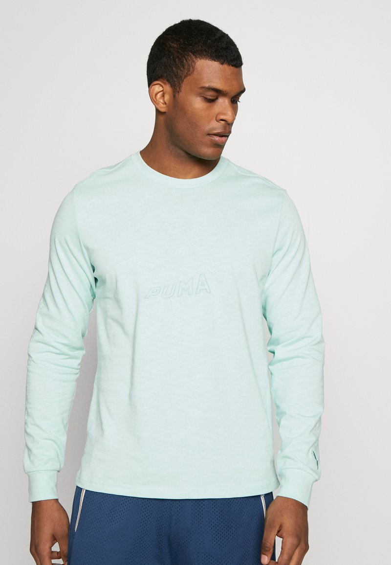 Puma - HOOPS BOUNCE TEE - Long sleeved top - mist green