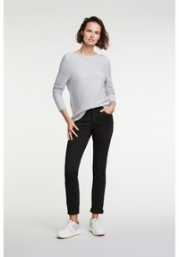 Oui - Slim fit jeans - black - 1