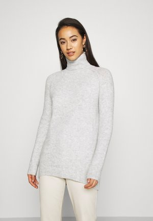 VMPLAZA ROLLNECK LONG - Sweter - light grey melange
