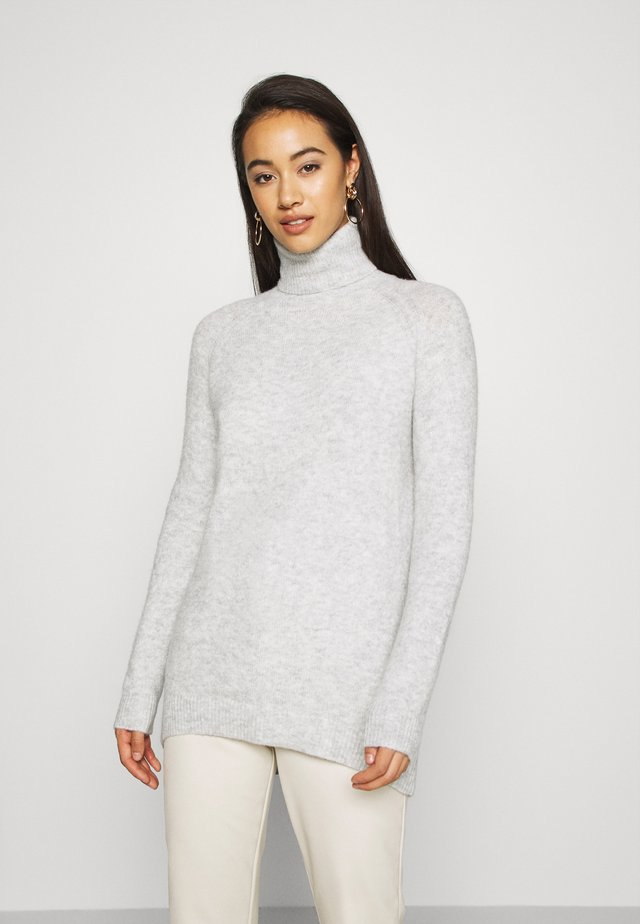 VMPLAZA ROLLNECK LONG - Maglione - light grey melange