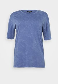 BOXY TUNIC - Print T-shirt - denim blue