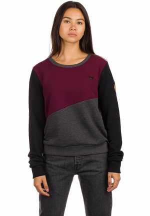 TABBY  - Sweatshirt - chrcl htr/blk/port royale