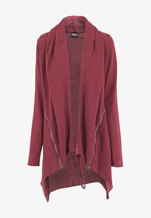LADIES TERRY ZIP-UP CARDIGAN - Zip-up hoodie - burgundy