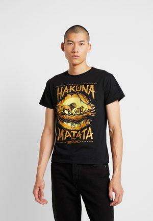 LION KING TEE - T-shirt imprimé - black