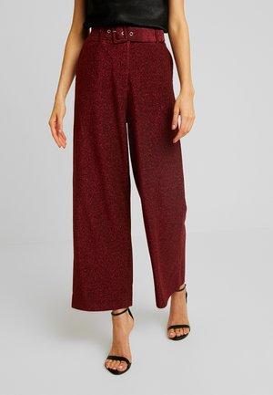 Kalhoty - black/raspberry/tawny