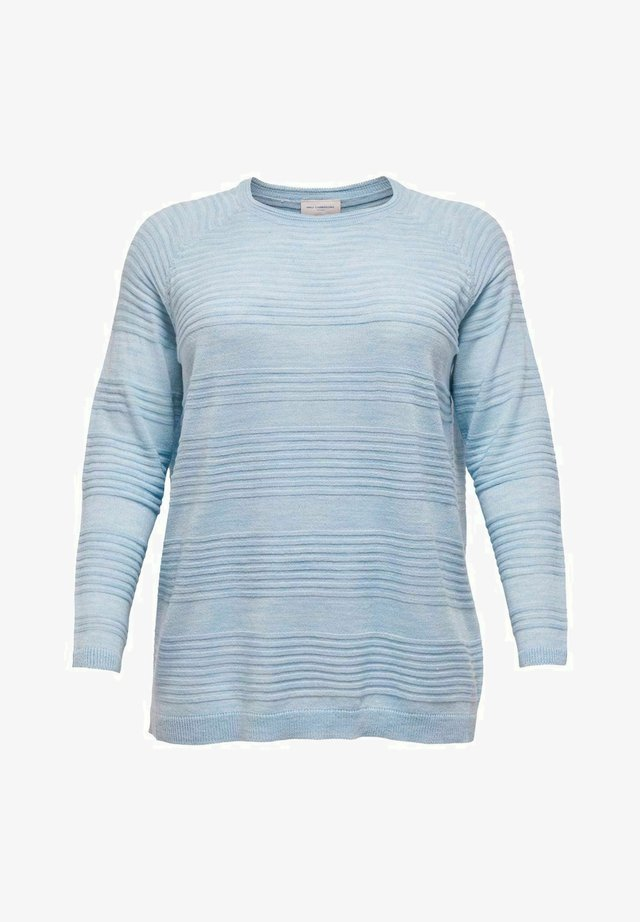 Sweter - faded denim