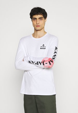 Top sdlouhým rukávem - white