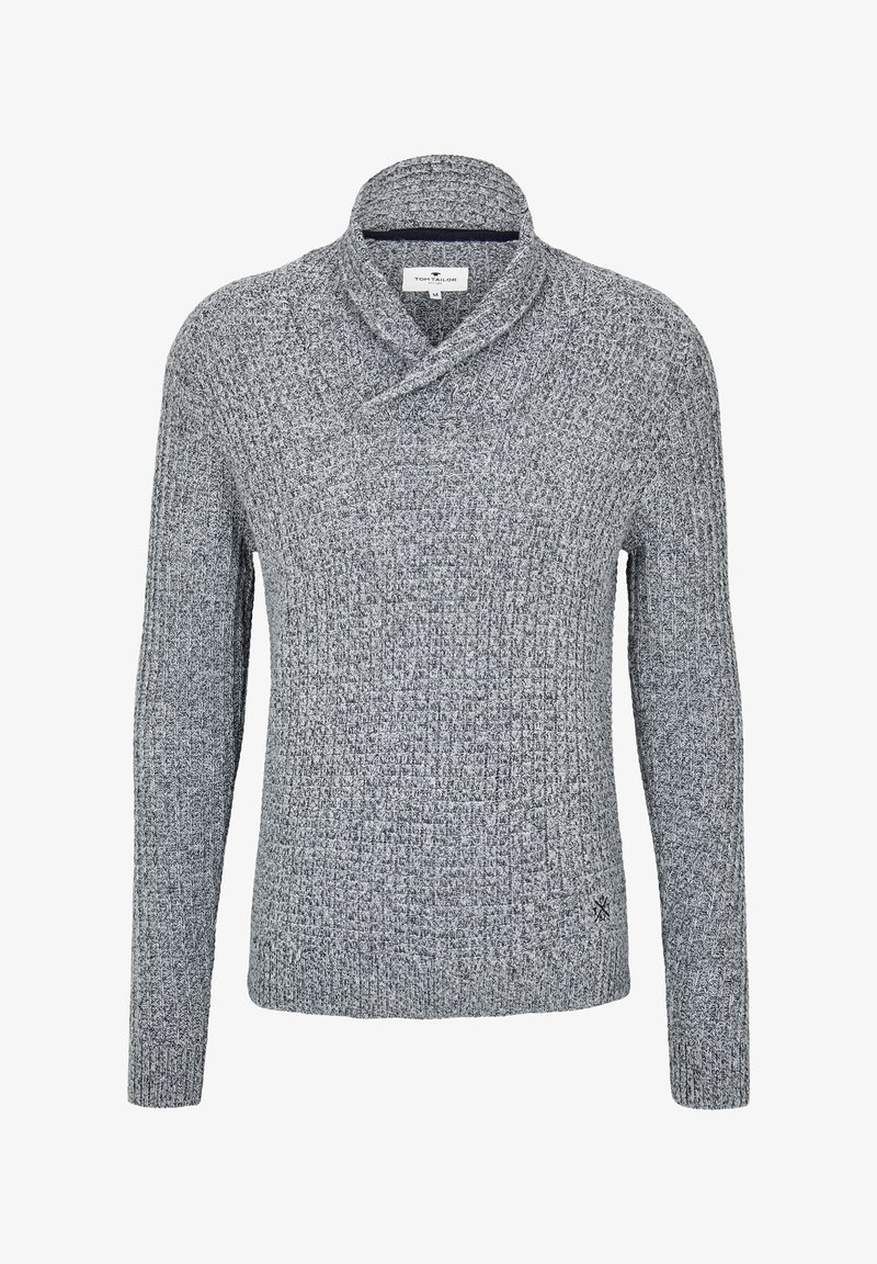 TOM TAILOR Strickpullover - grey heather melange/grau DpyPi2