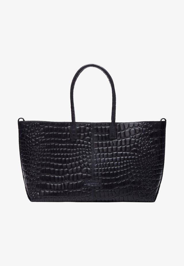 MALIBU MIT KROKOPRÄGUNG - Shopping bag - midnight sky