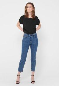 ONLY - ONLMOSTER ONECK - T-shirts - dark grey melange - 3
