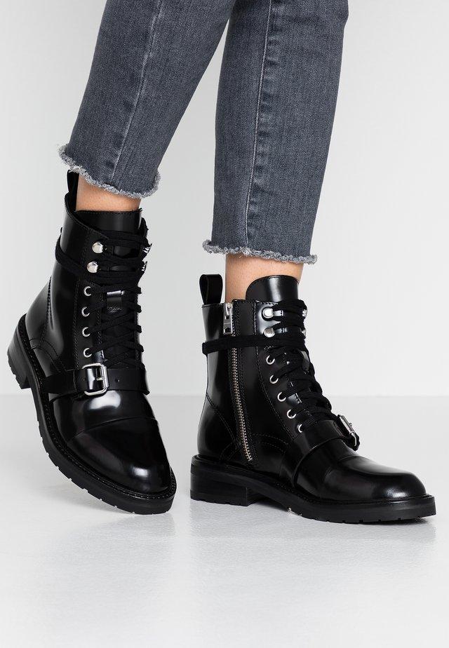 DONITA - Cowboy/biker ankle boot - black