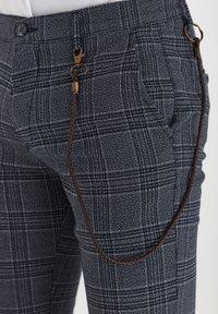 Solid - TRAVIS - Trousers - grey mel - 4