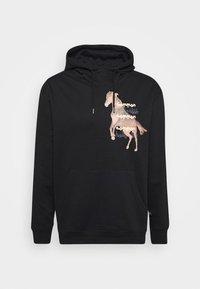 HORSE HOOD UNISEX - Hoodie - washed black