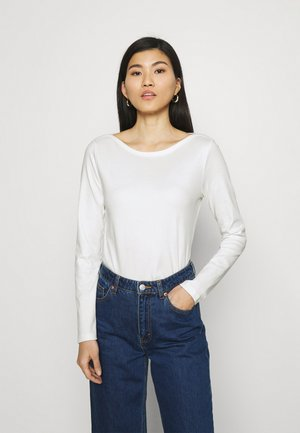 LONG SLEEVE ROUND NECK - Long sleeved top - paper white