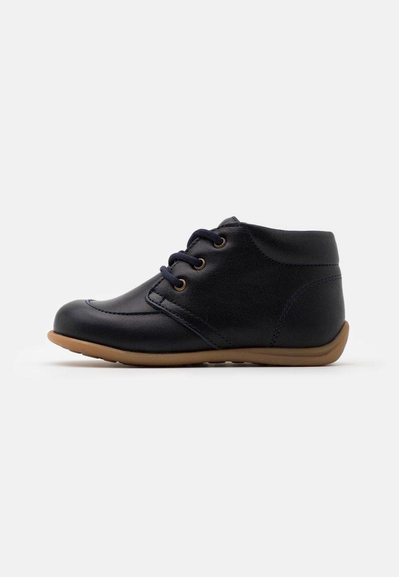 Bisgaard - BISGAARD LUCA LACE UNISEX - First shoes - navy