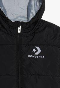Converse - WORDMARK QUILTED JACKET - Chaqueta de invierno - black - 4