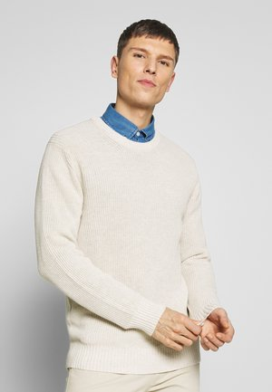 KNUT  - Jumper - light khaki melange