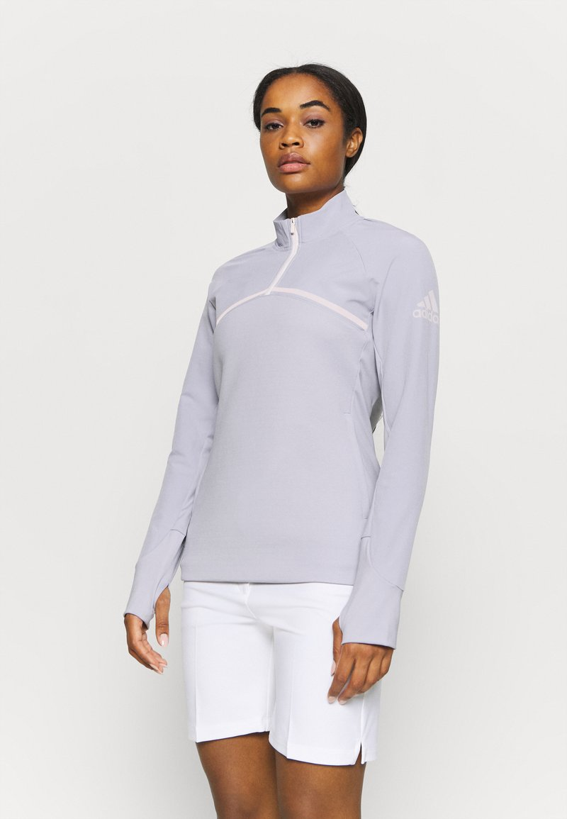 adidas Golf - GO TO A HALF ZIP - Fleecová mikina - glory grey