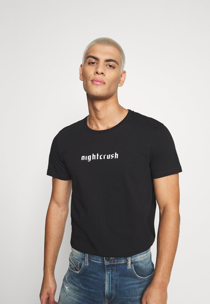 Diesel - T-INY T-SHIRT - Print T-shirt - black