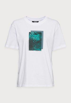 CLARE PALM LEAD PHOTO PRINT TEE - Print T-shirt - white