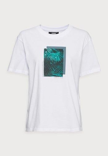 CLARE PALM LEAD PHOTO PRINT TEE - T-shirt print - white