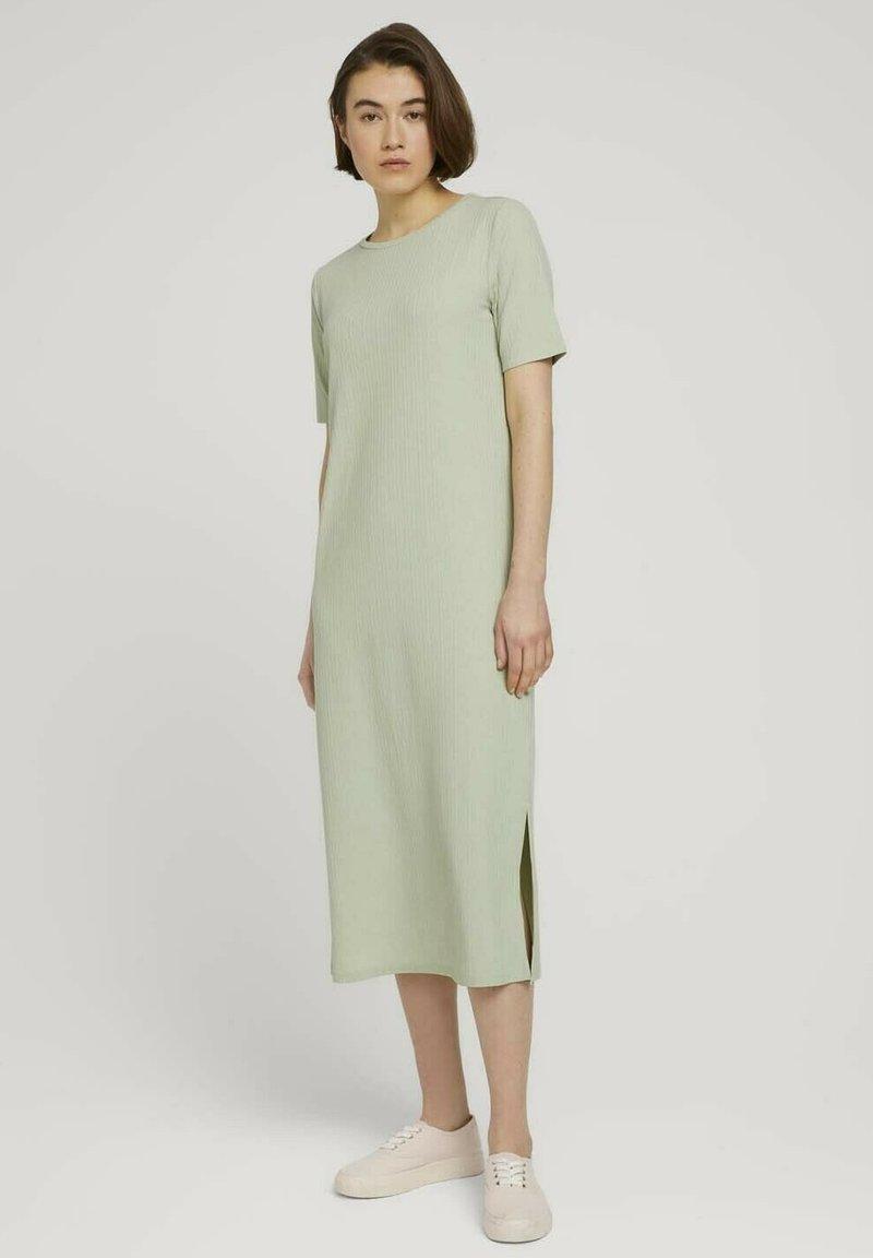 TOM TAILOR DENIM - Jersey dress - light dusty green