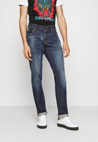 Just Cavalli - PANTALONE WITH LOGO - Slim fit jeans - blue denim - 0