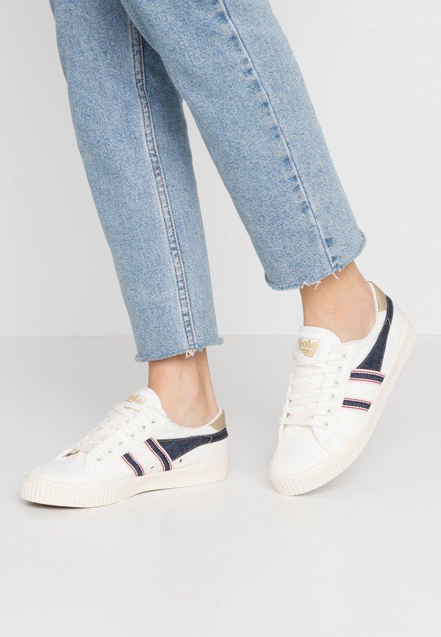 TENNIS MARK COX SELVEDGE - Sneakers laag - offwhite/indigo