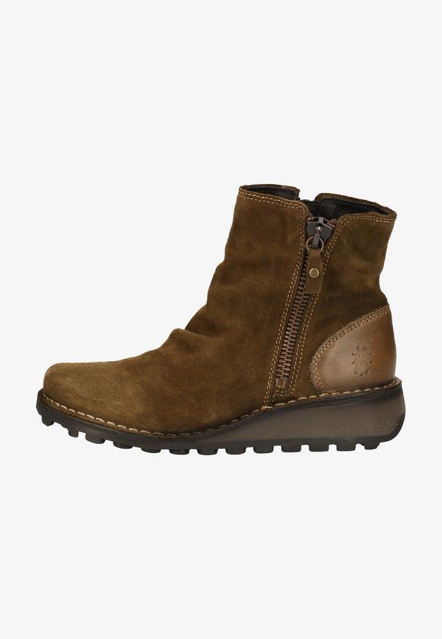 Boots à talons - sludge/olive